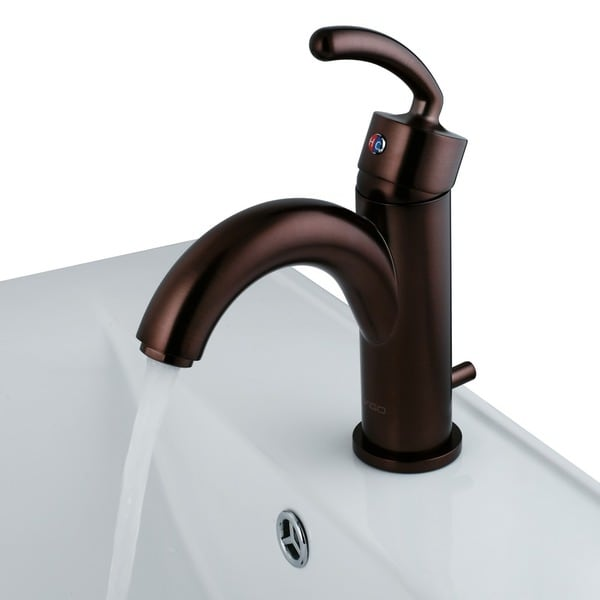 Single Lever Bathroom Faucet in Oil Rubbed Bronze Finish with Drain Assembly