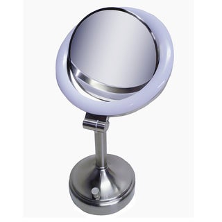 Zadro SLV410 10x-1x Dimmable Sunlight Makeup Vanity Mirror