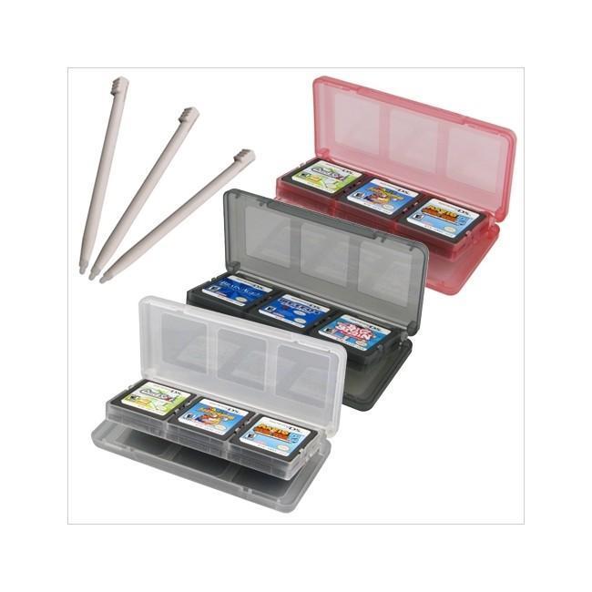 3 Game Card Cases + Stylus For Nintendo Dsi