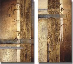 Tita Quintero 'Bamboo Inspirations' Canvas Art (Set of 2) - Thumbnail 1
