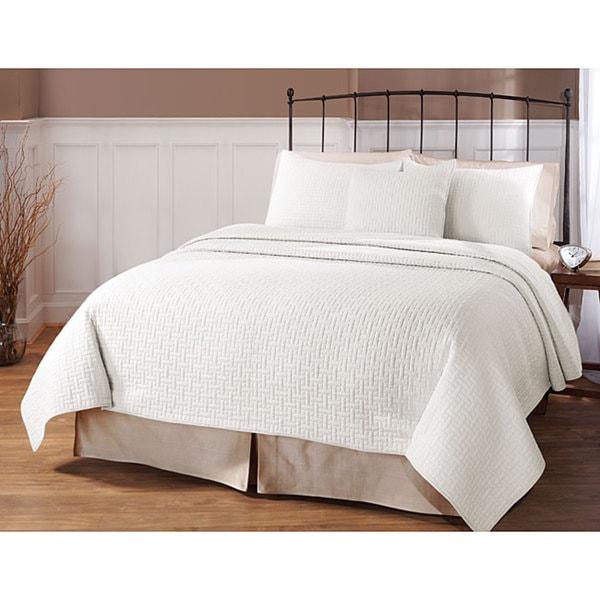 Landon White 3-piece Quilt Set