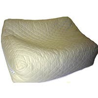 Premium Buckwheat Hull Standard Pillow with Quilted Cotton Shell - Natural