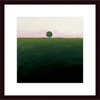 Ron Rogers 'One in Green' Wood Framed Art Print
