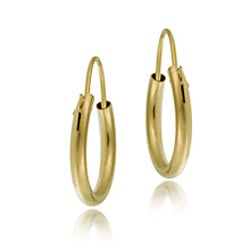 Mondevio 14k Yellow Gold 10mm Mini Hoop Earrings