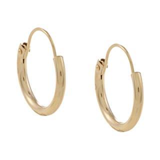 Mondevio 14k Yellow Gold 10mm Mini Hoop Earrings