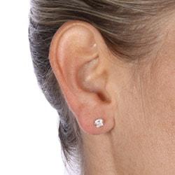 Icz Stonez 14k Gold Cubic Zirconia 5-mm Round Stud Earrings - Thumbnail 2