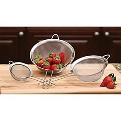 Stainless Steel Strainers (Set of 3)