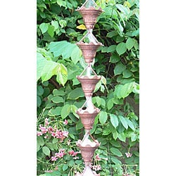 Monarch Pure Copper Butterfly Rain Chain 8.5-Foot Inclusive of Installation Hanger