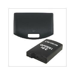 Insten Accessory Bundle Battery + Cover Door For PSP Fat 1000