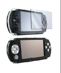Insten Black Silicone Skin Case/ LCD Screen Protector for SONY PSP 3000