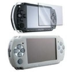 Insten White Silicone Skin Case/ Screen Guard for Sony PSP 3000 2000