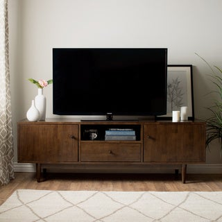 Jasper Laine Lawrence Brown Rubberwood Entertainment Center
