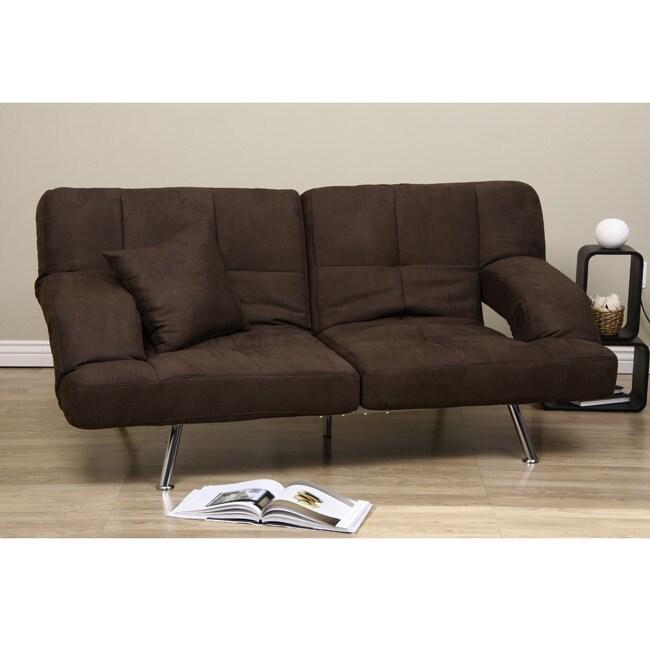 Dark Brown Microfiber Sofa Bed