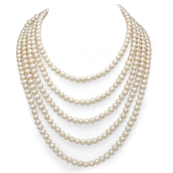 gift for her gifts for her cultured pearls cultured freshwater pearls string of pearls long necklace 58 vintage jewelry