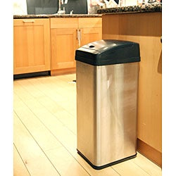 iTouchless 13-gallon Square Extra-Wide Opening Trash Can - Thumbnail 1