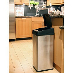 iTouchless 13-gallon Square Extra-Wide Opening Trash Can - Thumbnail 2