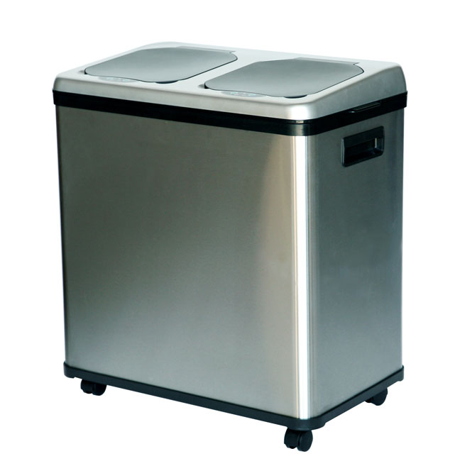 Itouchless 16 Gallon Stainless Steel Dual Compartmnet