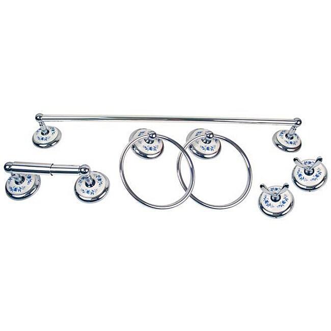 Moen Boutique Blue Floral 6-piece Bath Accessory Kit