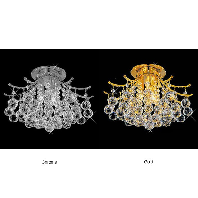 Lead crystal ball flush mount ceiling chandelier free shipping today 12258033 - Ceiling crystal chandelier ...