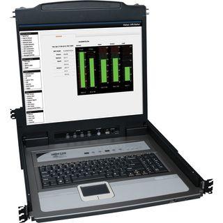 "Tripp Lite 16-Port Rack Console KVM Switch 19"" LCD PS2/USB Cables 1U"