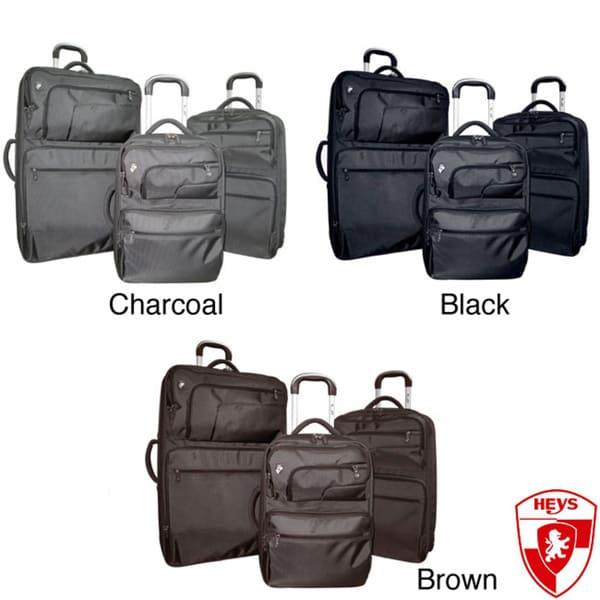 Heys Fuse X2 Hybrid Three-piece Dernier Ballistic Nylon Luggage Set