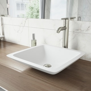 VIGO Seville Brushed Nickel Vessel Bathroom Faucet