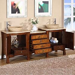 Silkroad Exclusive Rocklin Bathroom Double Vessel Vanity - Thumbnail 1
