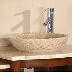 Silkroad Exclusive Rocklin Bathroom Double Vessel Vanity - Thumbnail 2