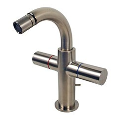 Hansgrohe Axor Uno Brushed Nickel Two-handle Bidet Faucet