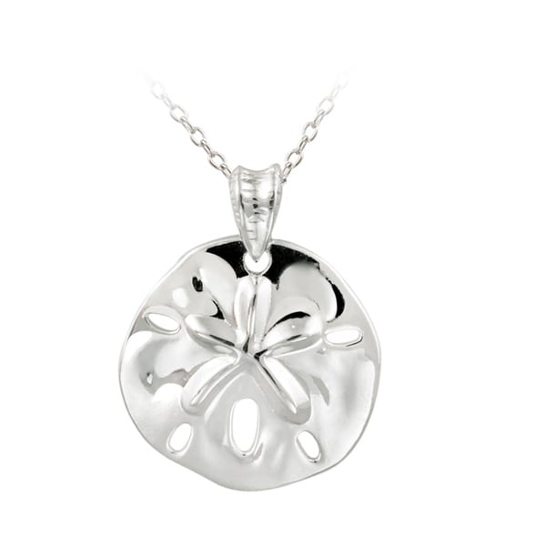Shop mondevio 18k gold over sterling silver sand dollar necklace mondevio 18k gold over sterling silver sand dollar necklace aloadofball Images