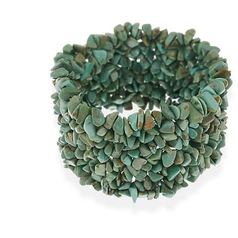 Glitzy Rocks Multi-row Turquoise Chip Bracelet