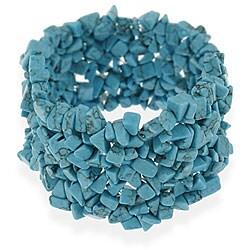 Glitzy Rocks Multi-row Turquoise Chip Bracelet