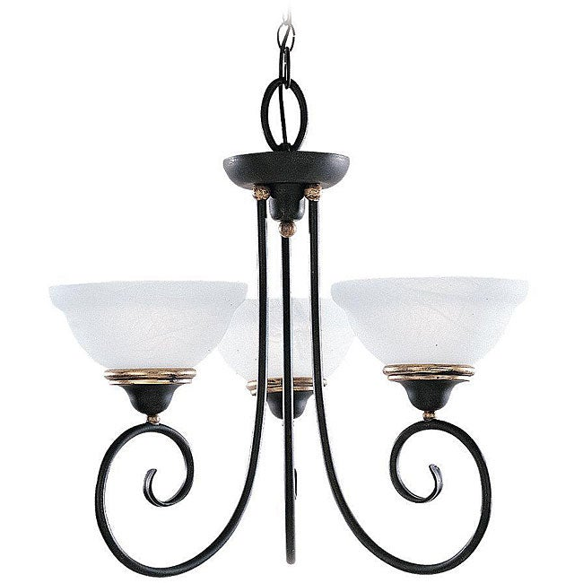 Athenia 3-light Gold Patina Chandelier