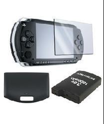 Insten Battery/ Back Door Cover/ LCD Screen Protector for PSP 1000