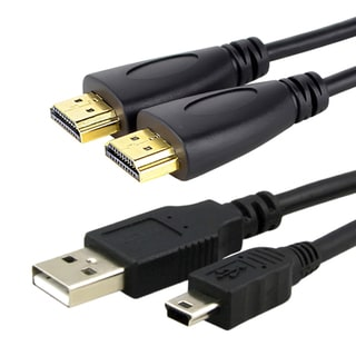 Insten High Speed HDMI Cable/ USB Charging Cable for Sony