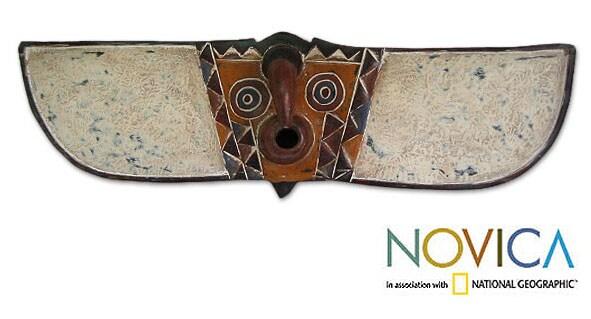 Burkina Faso Wood 'Bwa Butterfly Spirit' Mask (Ghana)