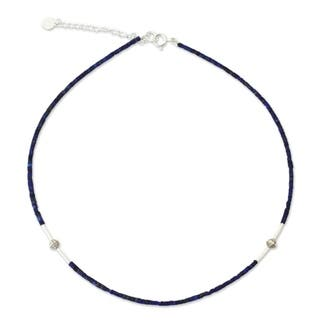 A Pure Soul Blue Lapis Lazuli Gemstones with 925 Sterling Silver Beads Adjustable Sleek Modern Women|https://ak1.ostkcdn.com/images/products/4279528/P12262108.jpg?impolicy=medium