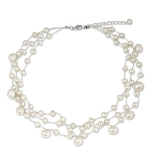 Handmade Stainless Steel Moonlight Glow Pearl Choker Necklace (Thailand)|https://ak1.ostkcdn.com/images/products/4279582/P12262167.jpg?_ostk_perf_=percv&impolicy=medium