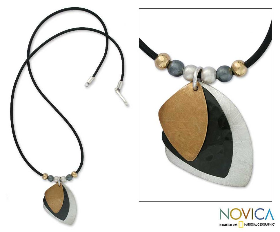 Handmade 22k Goldplated Sterling Silver 'Sails' Necklace (Mexico)