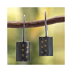 24k Goldplated Silver 'Midnight Comet' Earrings (Mexico)