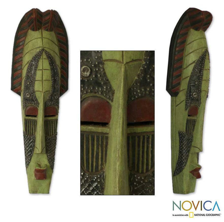 Ghanaian 'Queen of Nature' Wood Mask (Ghana) - Thumbnail 0