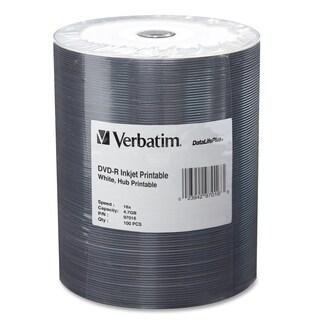 Verbatim DVD-R 4.7GB 16X DataLifePlus White Inkjet Printable, Hub Pri
