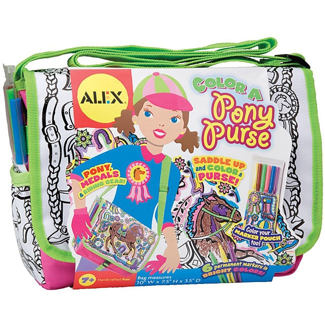 Alex Toys NOM407424 Color A Pony Purse Kit