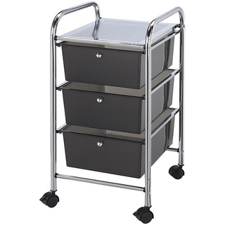 Blue Hills Studio 3-drawer Smoke Storage Cart