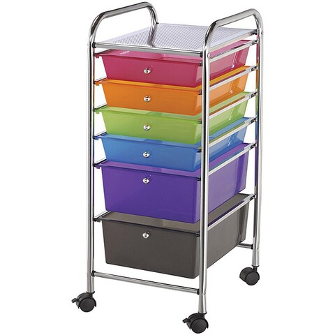 Blue Hills Studio Multicolor 6-drawer Rolling Storage Scrapbooking and Craft Cart