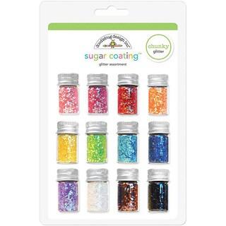 Doodlebug Sugar Coating Chunky Glitter Bottle Set (Pack of 12)