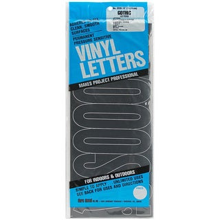 Dural Decal Gothic/ Black Permanent Adhesive Vinyl 6-inch Letter Set