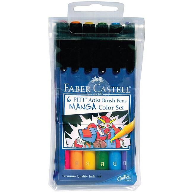 Faber-Castell Manga Pitt Artist Brush Pens (Pack of 6)
