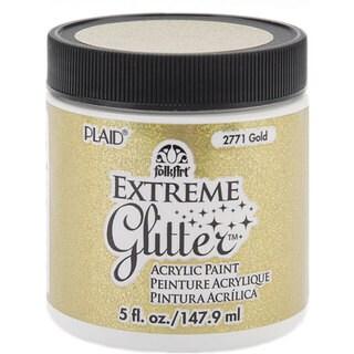 Folk Art Extreme 5-oz Gold Glitter Paint