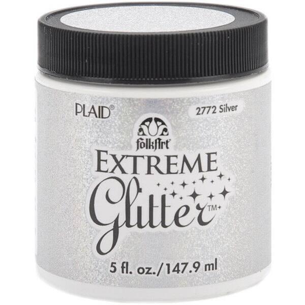 Folk Art Extreme 5 Oz Silver Glitter Paint